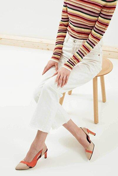 Mio Gusto Kadın Turuncu Topuklu Ayakkabı