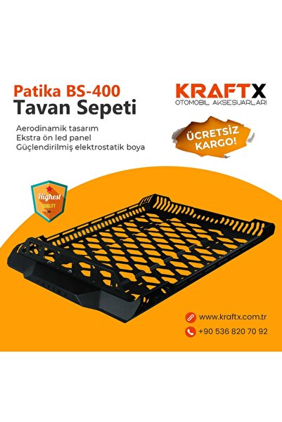 Kraftx Yeni Nesil Patika Araç Üstü Tavan Sepeti 120x100