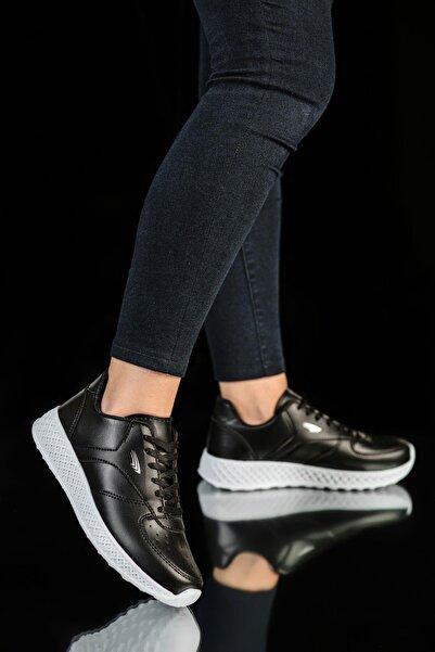 MUGGO Kadın Siyah Beyaz Sneaker