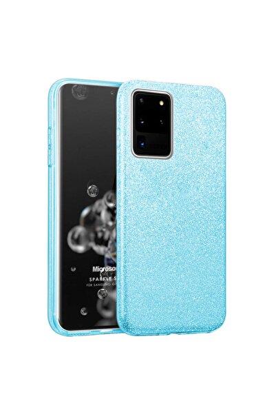 Microsonic Galaxy S20 Ultra Uyumlu Kılıf Sparkle Shiny Mavi