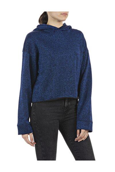 Replay Kadın Siyah Pamuklu Sweatshirt