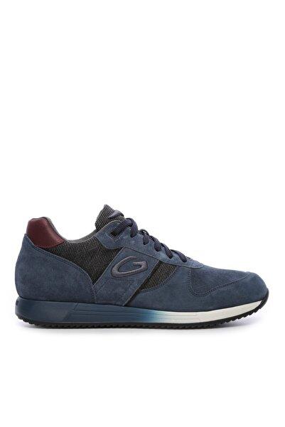 ALBERTO GUARDIANI Erkek Mavi Derı Spor Ayakkabı