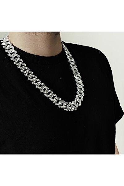 34528 Chain Gümüş Prong Cuban Chain