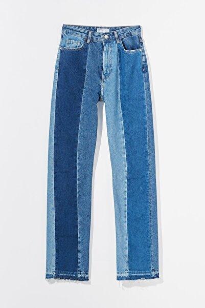 Bershka Kontrast Straight Fit Jean