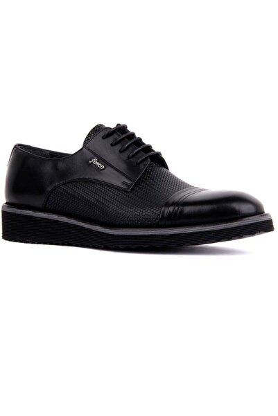 Fosco Bağcıklı Siyah Deri Erkek Günlük Ayakkabı 7042 46 763