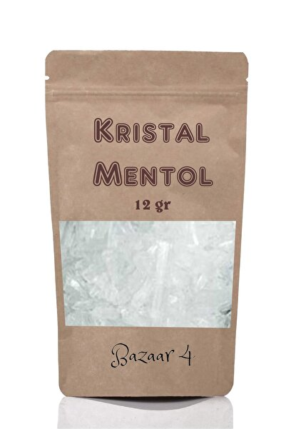 BAZAAR 4 Kristal Mentol 1. Kalite 12 Gr Menthol ( Sauna, Hamam, Buhar Banyosu )