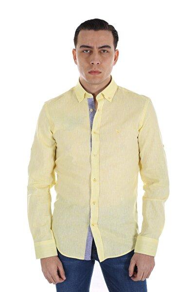 Diandor Erkek Sarı Uzun Kollu Gömlek 1812087