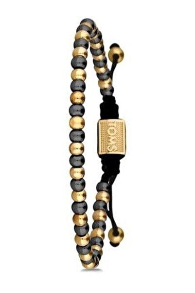 Handmade Unisex Makrome Gold Bileklik