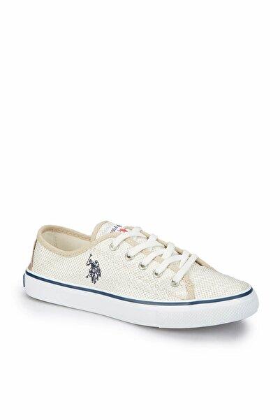 U.S. Polo Assn. TOGA Bej Kadın Sneaker Ayakkabı 100249568