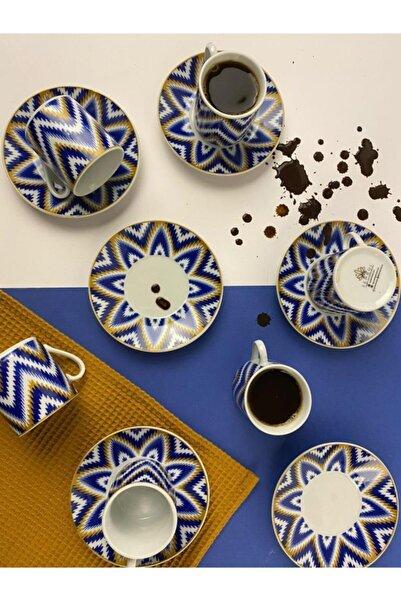 Sembol Çiçek Desenli 6'lı Porselen Fincan Seti Coffea-510