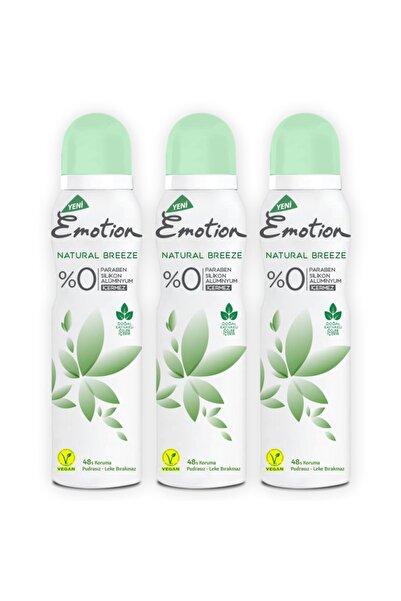 Emotion Natural Breeze Deodorant 3x150ml