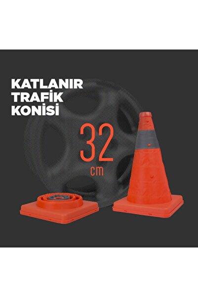 Petrix Reflektörlü Katlanır Trafik Konisi 32 Cm (duba)