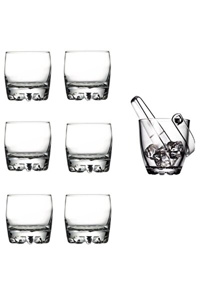 Paşabahçe 6 Adet Sylvana Viski Bardağı Ve Sylvana Buz Kovası Seti