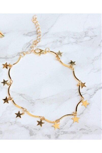 Durubags Kadın Gold Kaplama Yıldız Motifli Halhal Y1001