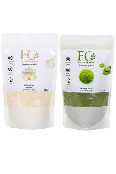 Farm Organico Glutensiz Soğan Tozu 150 gr + Glutensiz Ispanak Tozu 150 gr
