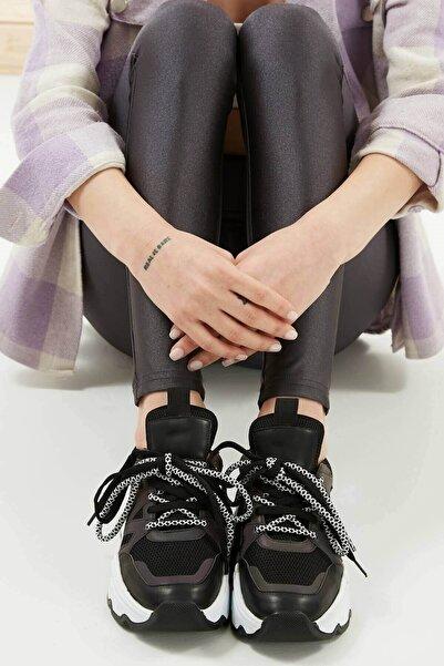 Mio Gusto Kadın Dawn Siyah Sneaker