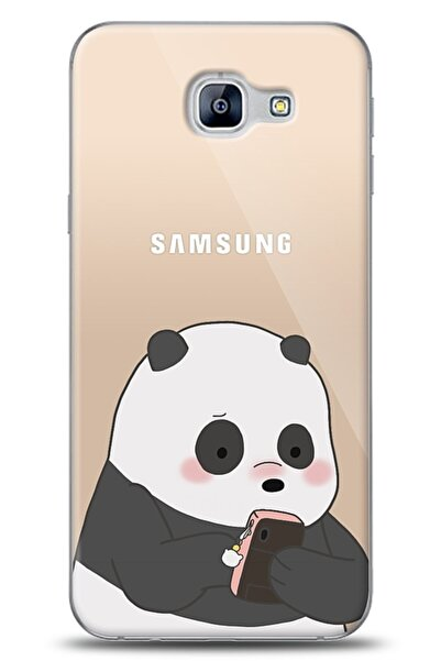 MobilCadde Samsung Galaxy A8 2016 Uyumlu Confused Panda Kılıf