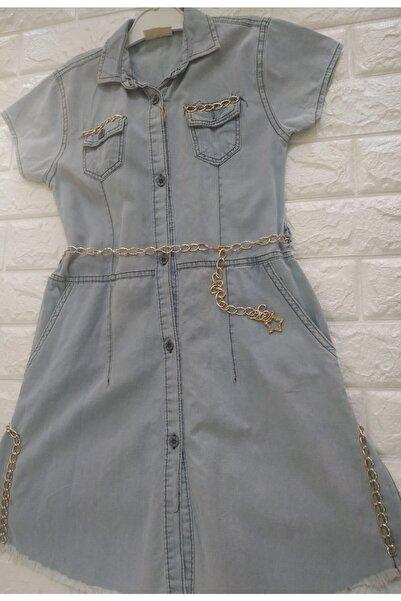 ALYA Kadın Kot Önden Düğmeli Elbise Tunik