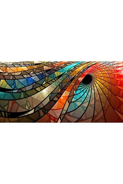 MOVAS Sanat Renkli Vitray Spiral Elmas Mozaik Tablo / Mozaik Puzzle 50x25cm E2020070