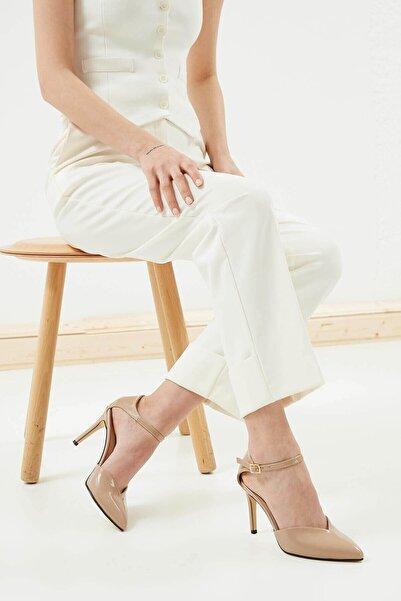 Mio Gusto Kadın Ten Peggy Rugan Topuklu Ayakkabı