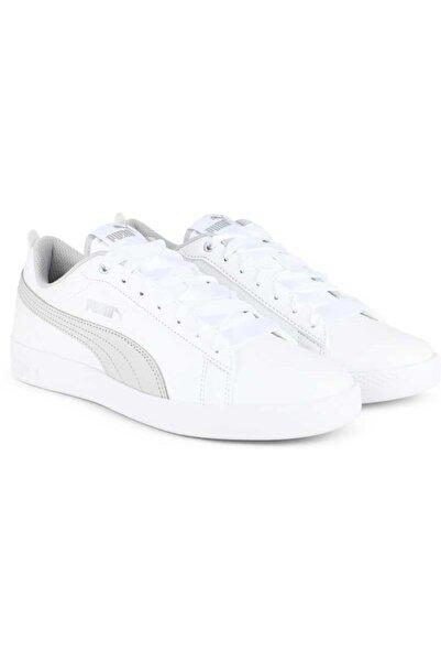 Puma Smash V2 L White-Gray Violet-p Kadın Beyaz Sneaker