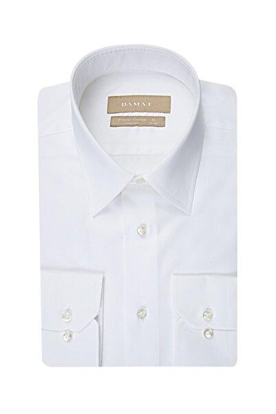 D'S Damat Damat Comfort Beyaz Düz Gömlek