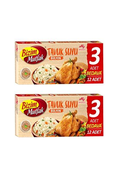 Bizim Mutfak Tavuk Suyu Bulyon (12'li) 120 Gr 2'li Paket