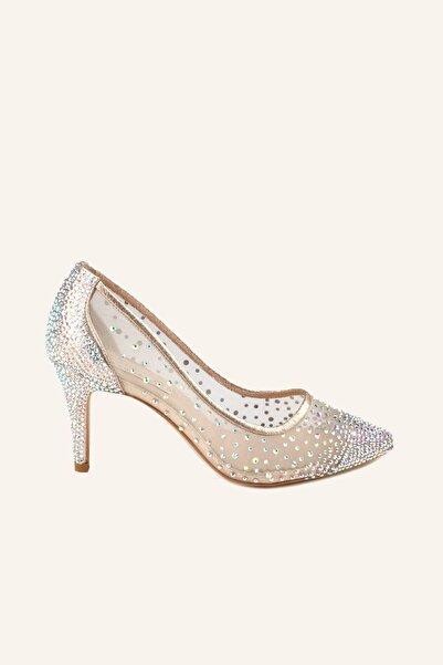 MARCATELLI Ekru 1365 Cinderella Mini Topuklu Ayakkabı
