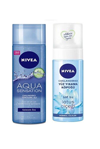 Nivea Aqua Sensation Canlandırıcı Temizleme Jeli + Canlandırıcı Yüz Tem.köp.150 Ml