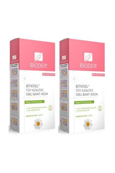 Bioder Bitkisel Tüy Azaltıcı Bant Ağda Kuru Cilt Için 12'li X 2