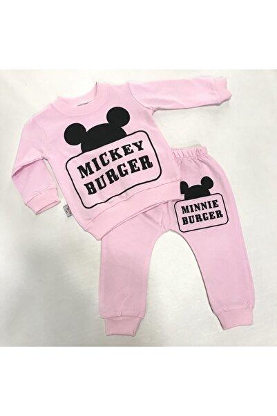 Baby Doss Kız Bebek Pembe Mıckey Mouse Baskılı Eşofman Takımı