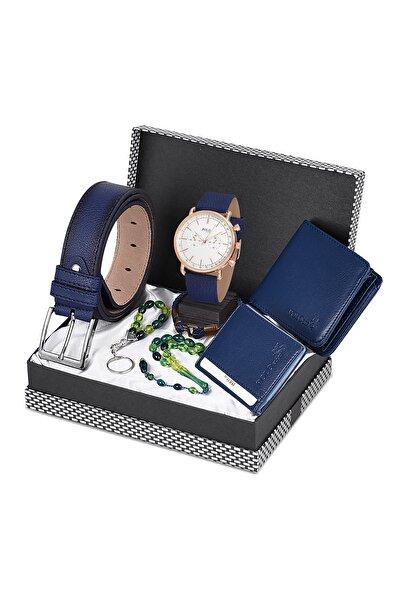 POLO Rucci Kol Saati + Kemer +  Cüzdan +  Kartlık + Tesbih + Anahtarlık Seti