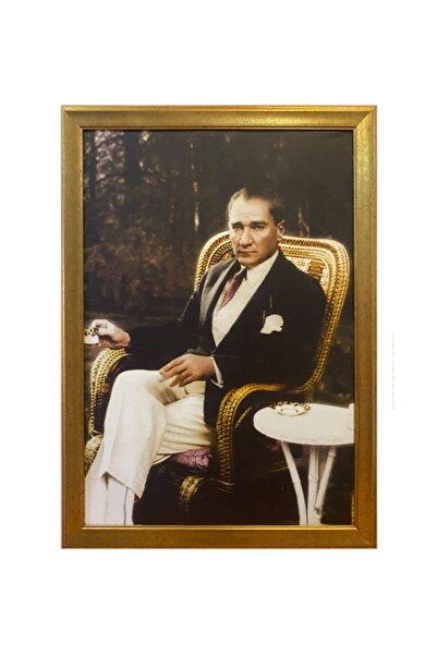 BELLARTE Yaldız Çerçeveli Atatürk Portresi 55x75cm