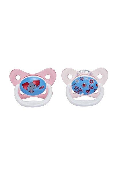 Dr Browns Unisex Bebek Beyaz Pembe Prevent Kanallı Emzik 6-12 Ay