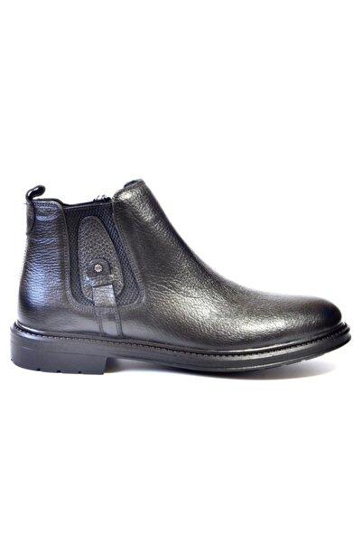 EREN Erkek Siyah Hakiki Deri Ayakkabı