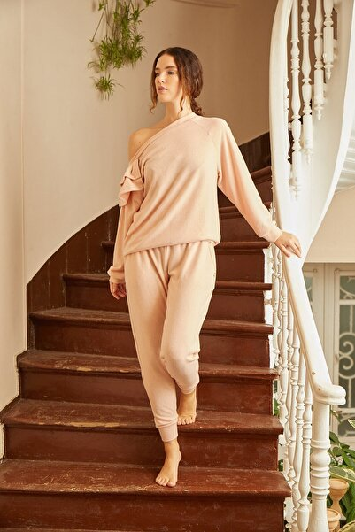 Louren H115 Kayık Yaka Ev Kıyafeti