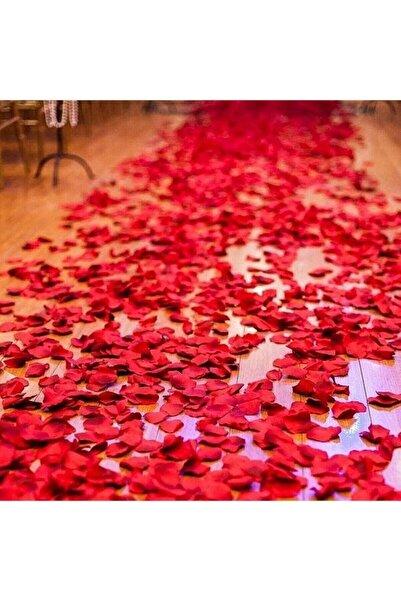 Partini Seç Dekoratif Kırmızı Yapay Gül Yaprakları, Romantik Süsleme Malzemesi 500 Adet