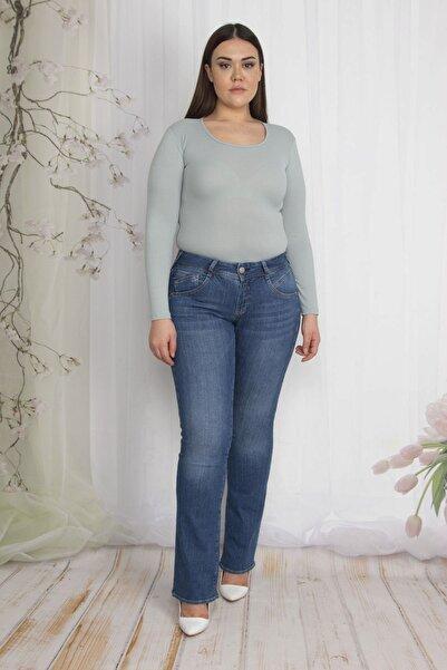 Şans Kadın Lacivert 5 Cepli Slim Fit Kot Pantolon 65N22293