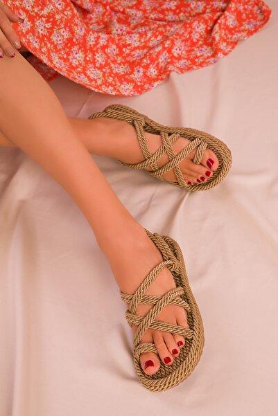 SOHO Altın Kadın Sandalet 14737