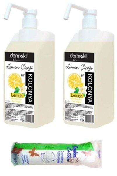 Dermokil Kolonya Limon 80 Derece Özel Sprey Tasarım 1000 ml 2 X Adet