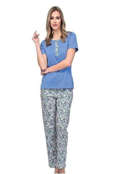 Çift Kaplan 7602 Pamuklu Kısa Kol Bayan Pijama Takım(S-5xl)