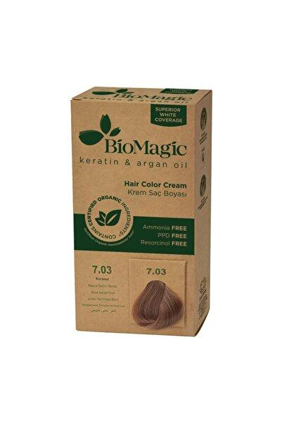 BIOMAGIC Doğal Saç Boyası Karamel No. 7,03