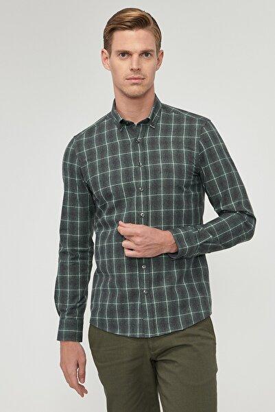 ALTINYILDIZ CLASSICS Erkek Haki Tailored Slim Fit Desenli Gömlek