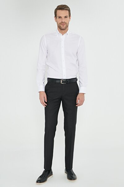ALTINYILDIZ CLASSICS Erkek Siyah Slim Fit Klasik Pantolon