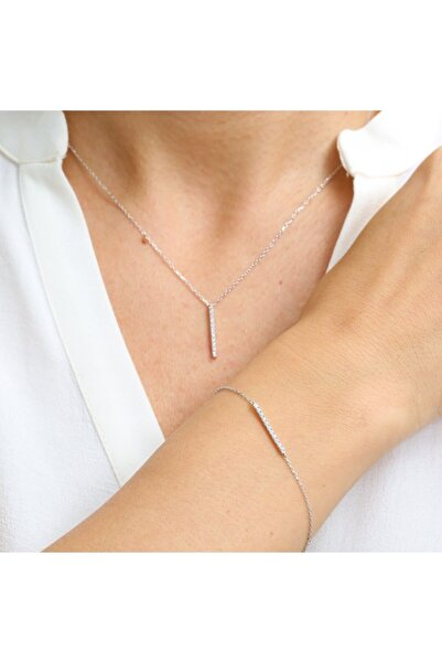 Mia Vento Pırlanta Montür Zarif Su Yolum Ikili Gümüş Set