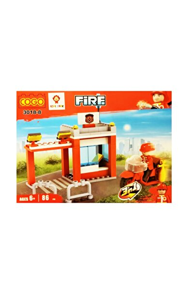 NFS Oyuncak Cogo Itfaiyeci Lego 3'ü 1 Arada 86 Parça Blok Set 3018-8