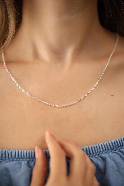 Ninova Silver Kadın Halat Model Gümüş İtalyan Kolye