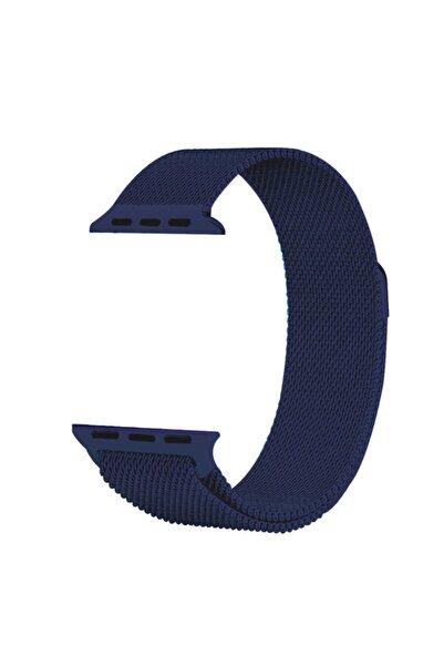 zore Apple Watch 1 2 3 4 5 Serisi 38mm Uyumlu Milano Loop Çelik Hasır  Kordon