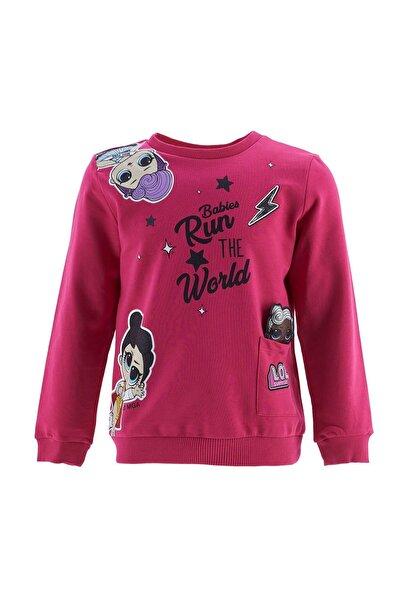 DeFacto Kız Çocuk Pembe Sweatshirt