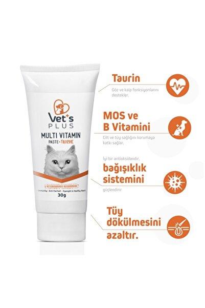 Vet's Plus Sağlıklı Kediler Için Taurinli Multi Vitamin Kedi Macunu 30gr